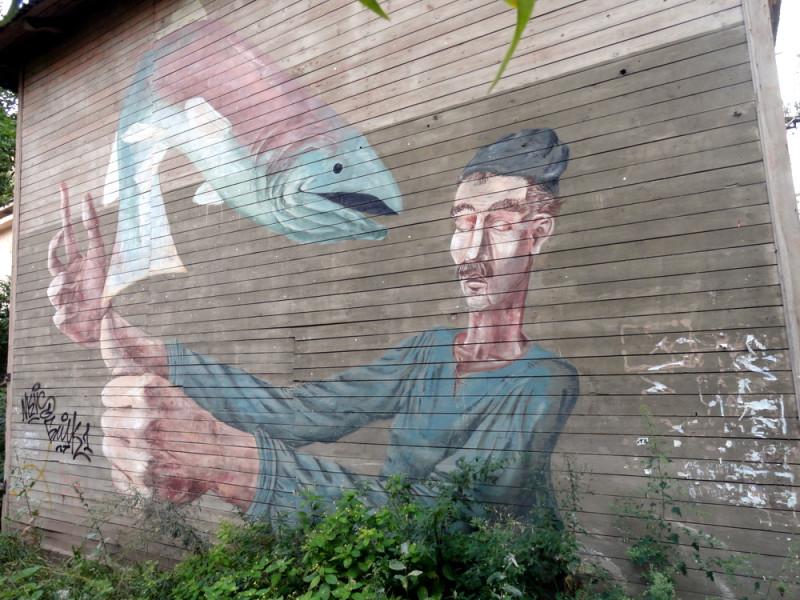 Стрит-арт на ул.Ковалихинская