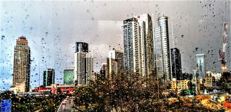 Тель Авив под дождем