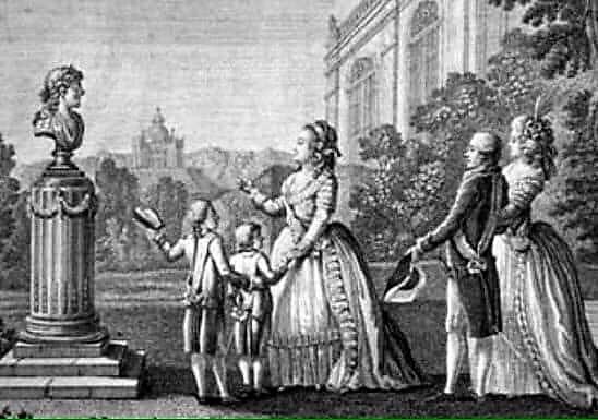 ЕКАТЕРИНА II на прогулке с внуками и их родителями