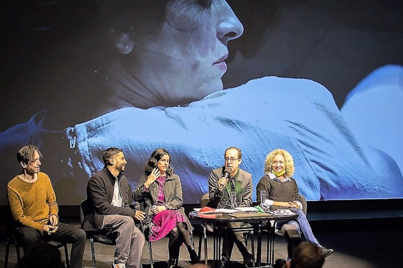 На пресс — конференции. Фото Виктории Шуб
