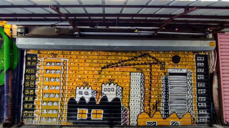 Граффити на блошином рынке