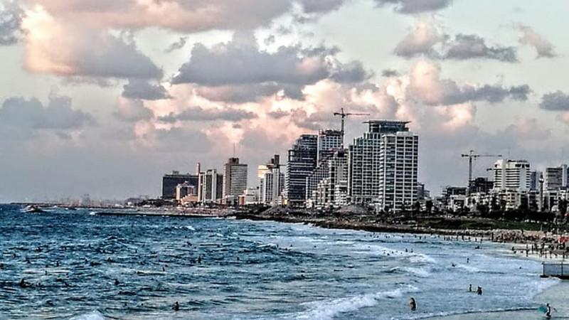 На море. Перед закатом.Тель Авив