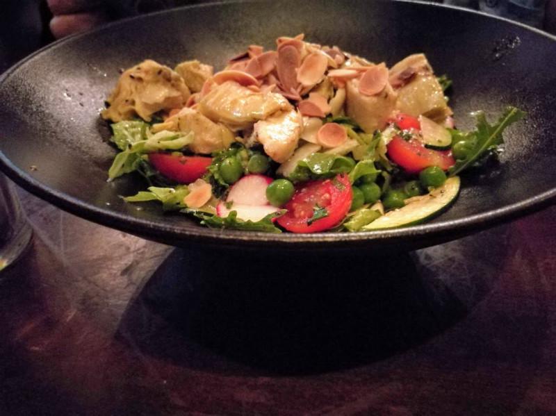 Салат из артишоков с курятиной