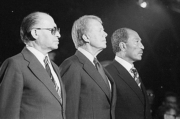 Бегин, Картер и Садат в Кемп - Дэвиде. 1978г.