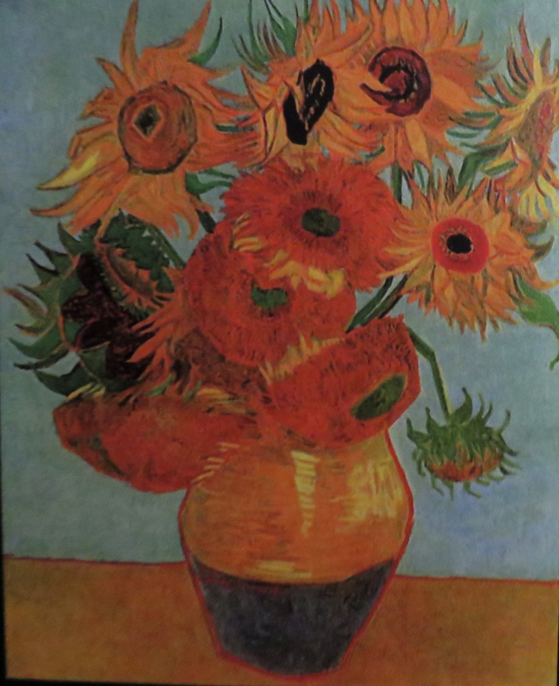 Van Gogh still life vase with twelve sunflowers