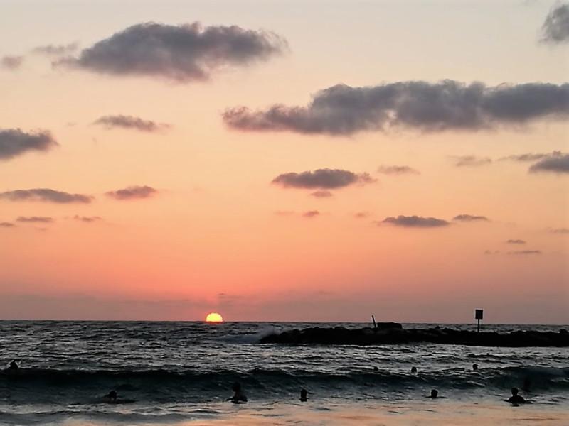 Средиземное море.Закат