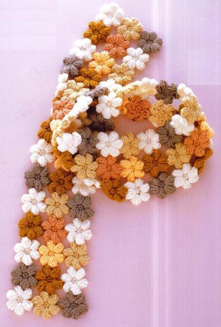 Рукотворіння квітковий шарф гачком