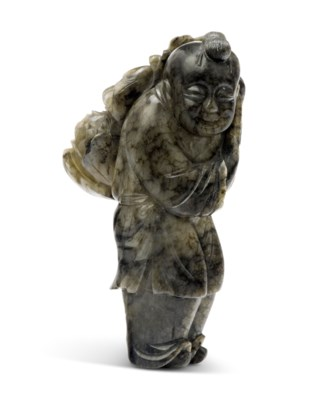 2019_CKS_17412_0053_000(a_mottled_grey_and_black_jade_boy_and_peony_carving_18th_century)