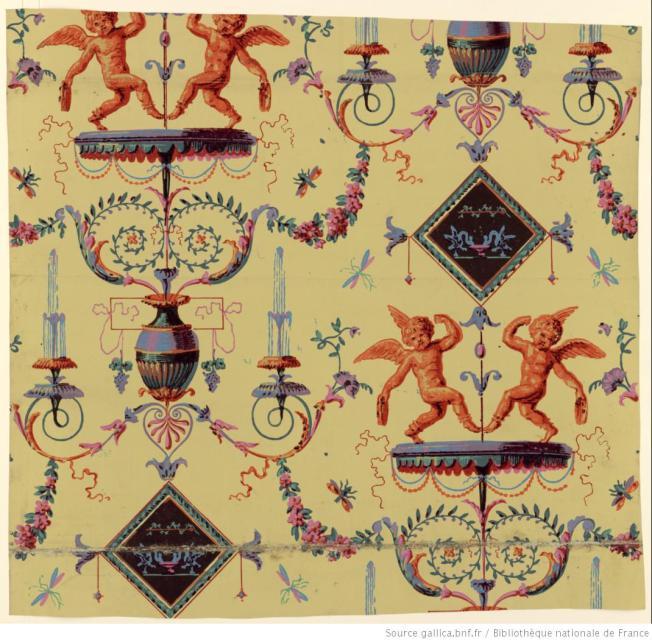 manufacture-bon-papier-c3a0-motif-rc3a9pc3a9titif-deux-putti-dansant-1799