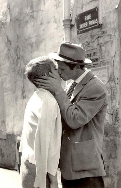 couple Jean Seberg & Jean-Paul Belmondo