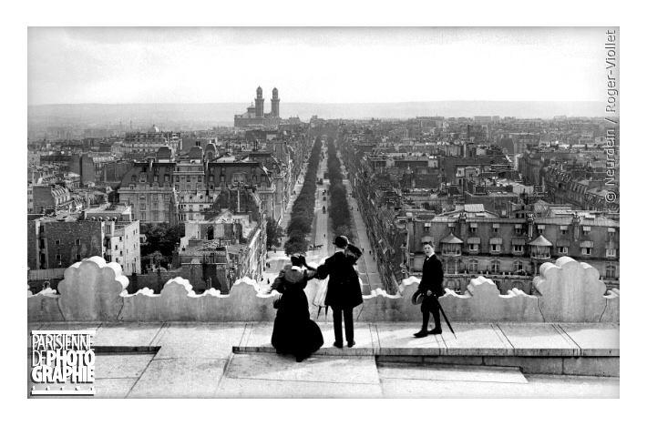 l'avenue Kléber prise de l'Arc de Triomphe en 1900