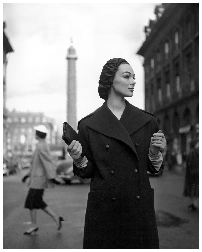 ivy-nicholson-in-wool-overcoat-with-sailor-collar-and-satin-beret-by-christian-dior-photo-by-georges-dambier-elle-march-1954