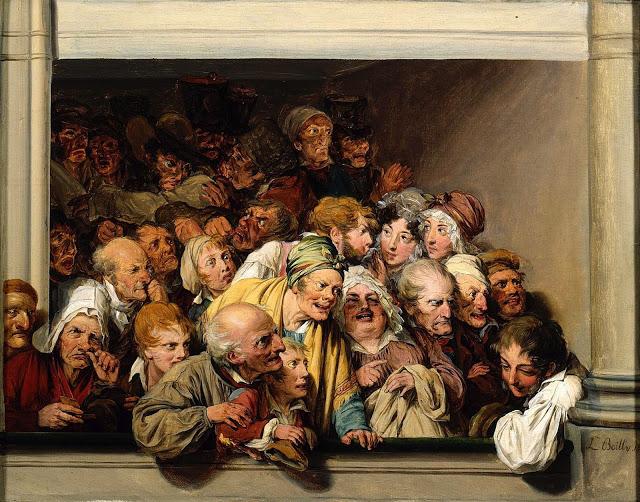 Louis Léopold Boilly ~ Une loge, un jour de spectacle gratuit, 1830 [Musée Lambinet]