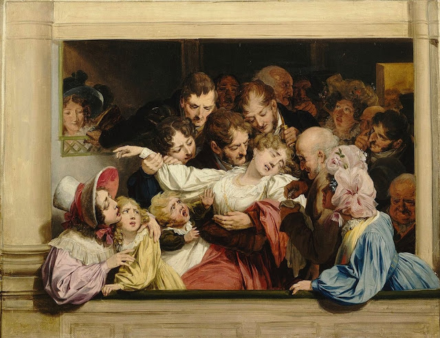Louis Léopold Boilly ~ L'effet du mélodrame, 1830 [Musée Lambinet]