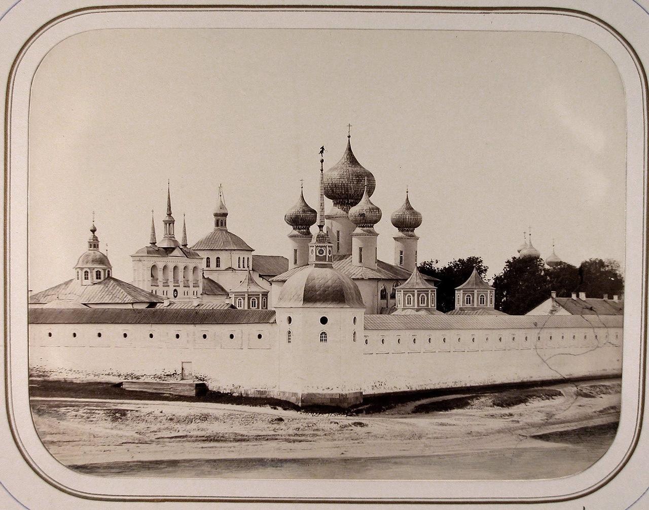 Вид на Успенский (Богородицкий, Большой) Тихвинский мужской монастырь (вид со стороны больницы ведомства путей сообщения)