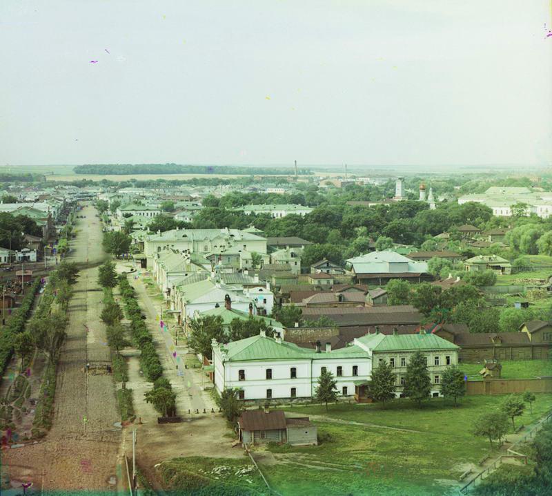 1912 Общий вид города с колокольни Успенского собора с северо-запада