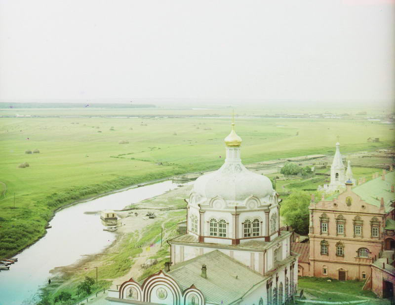 1912 Река Трубеж и собор Рождества Христова