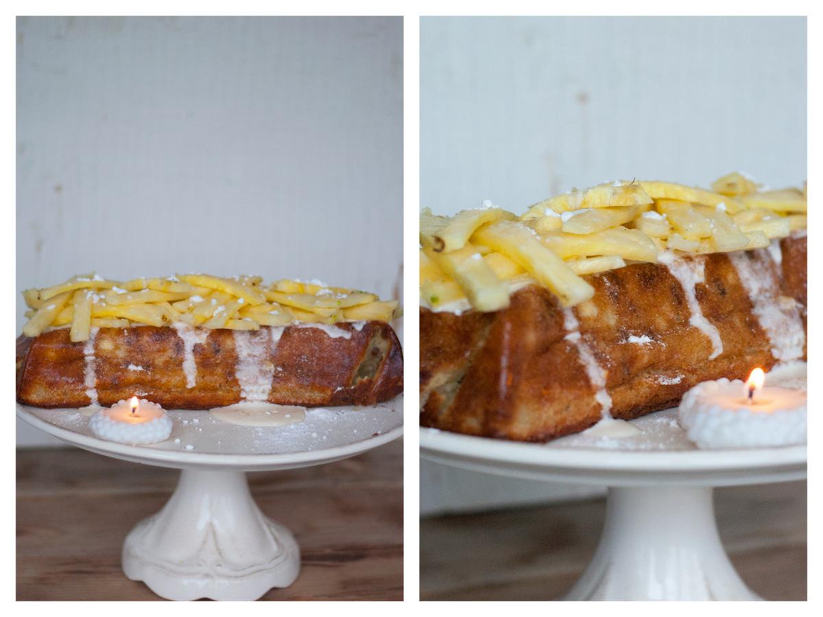 Творожный кекс с ананасом1