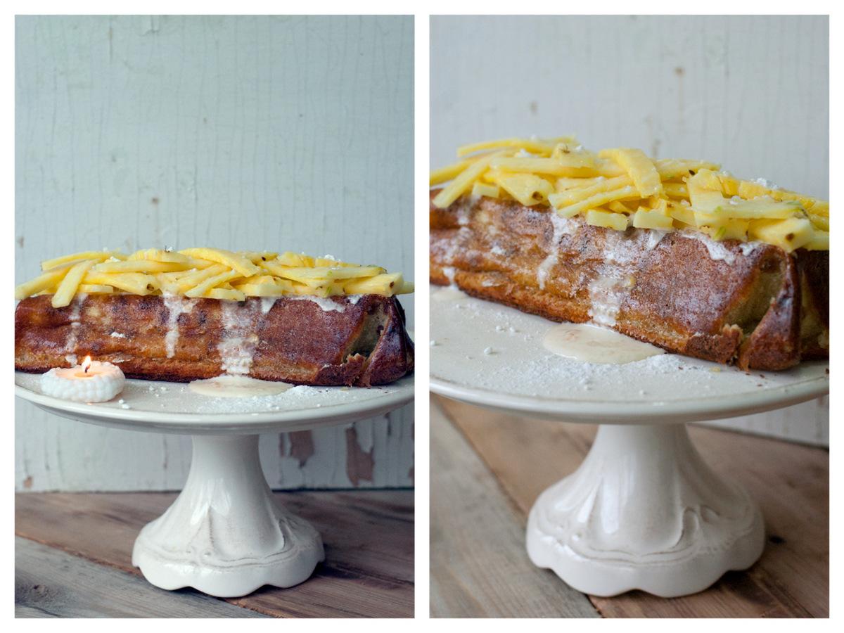 Творожный кекс с ананасом2