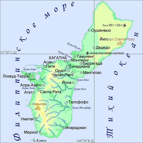 Где на карте находятся марианские острова