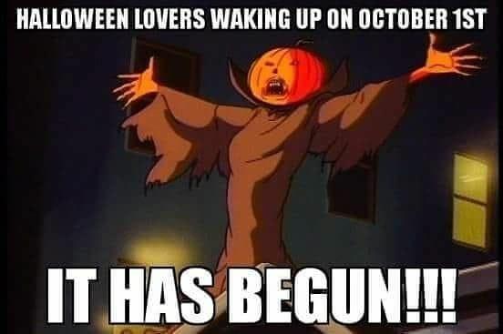 october 1st halloween lovers