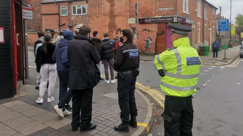 Полицейские присматривают за любителями искусства