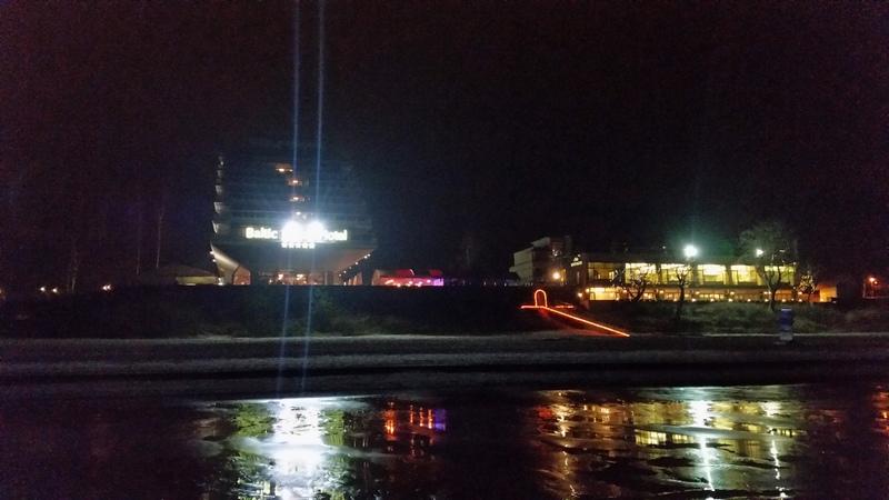 Jurmala Baltic Beach Hotel at Night