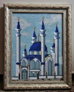 Вышивание мечети бисером