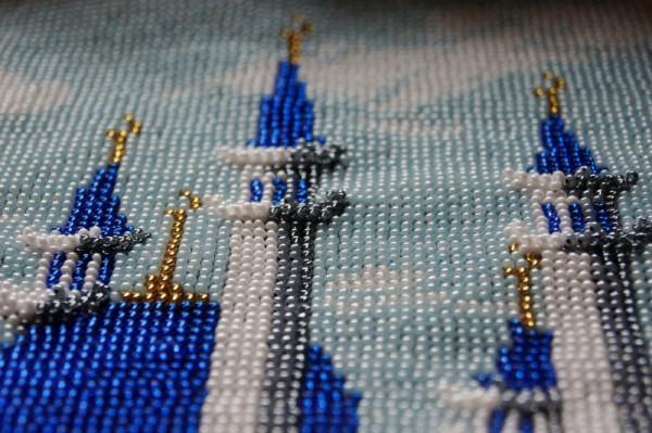 Как из бисера вышивки мечеть