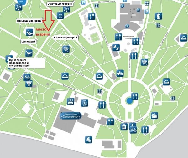 карта к встрече 14 июля 2014 с меткой