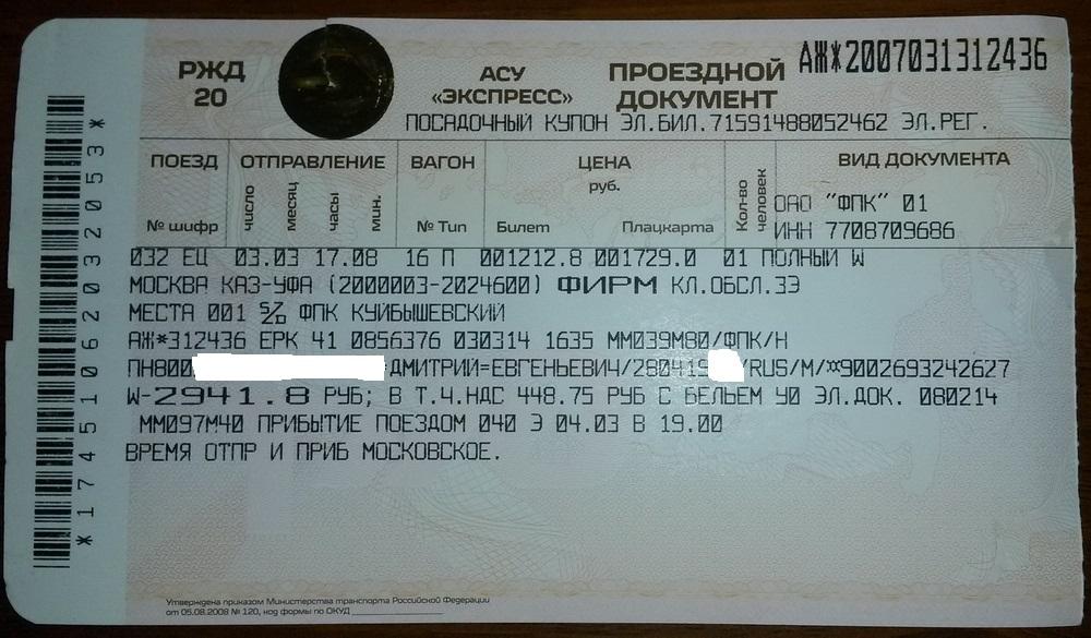 Билеты на поезд ижевск москва