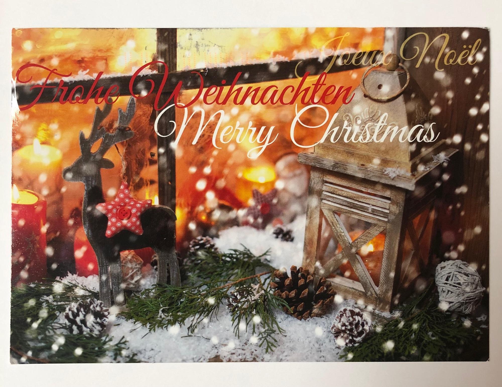 Very pretty postcard from Imma in Deutschland. It's so festive and pretty :)