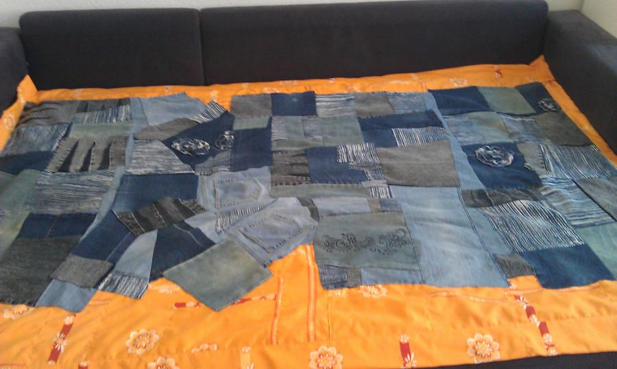 Как сшить из джинсов пледы 874