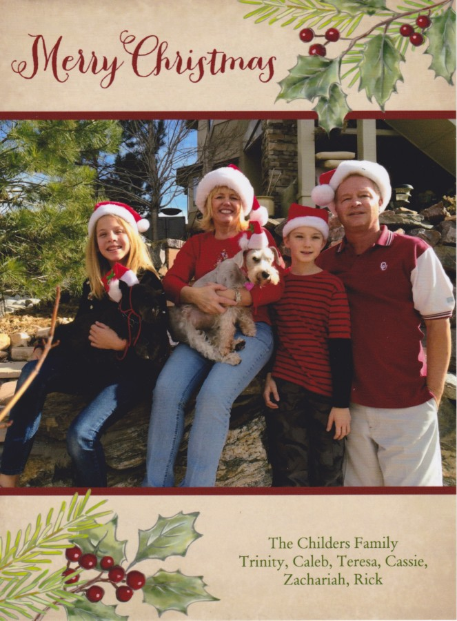 Dec. 2014 The Childers Family-