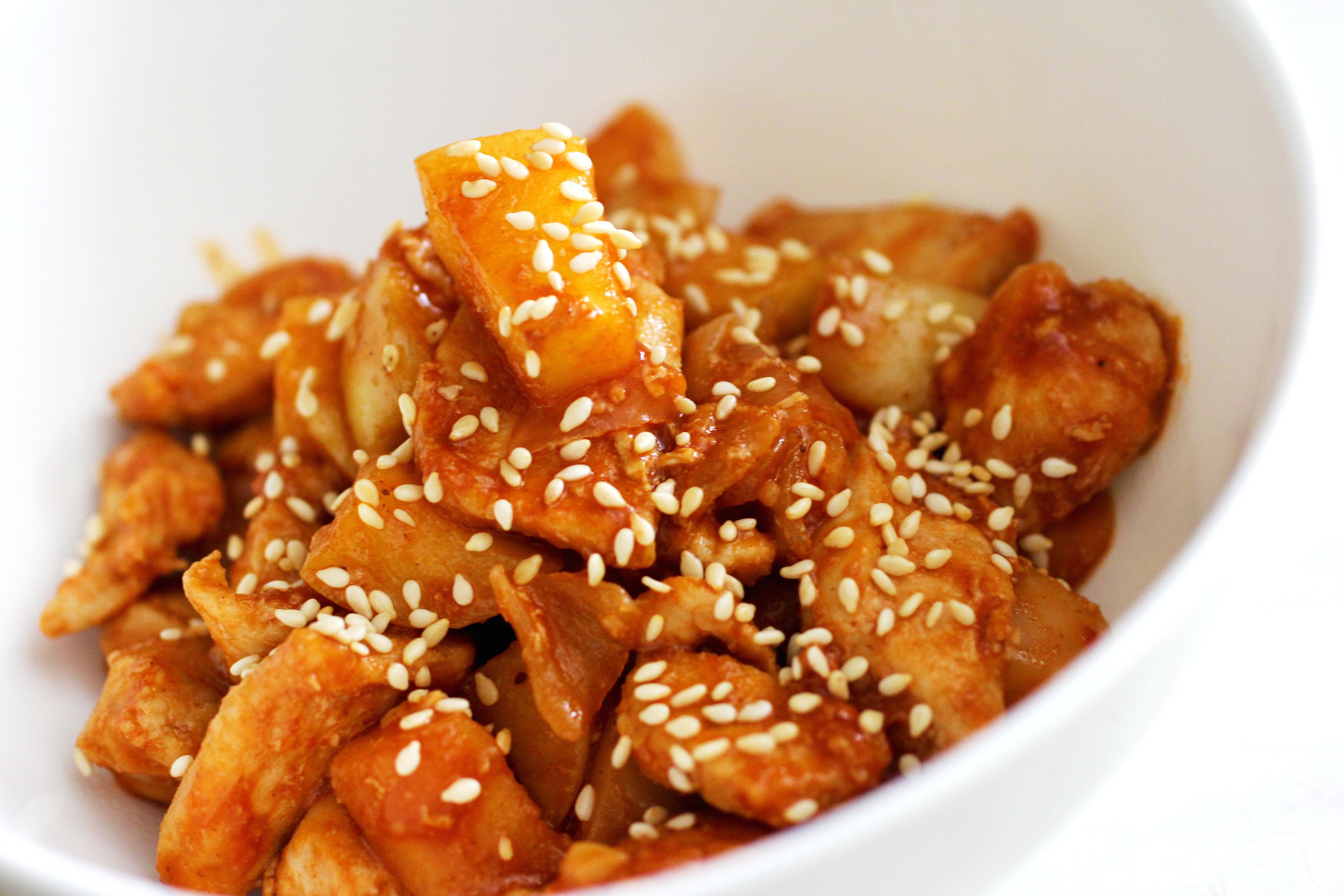 курица в кисло-сладкий соус рецепт