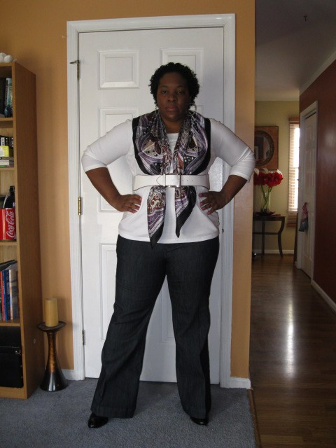 94d14588b2 Outfit Stats  Shirt  TJ Maxx Jeans  Torrid Scarf  Evans (I think)