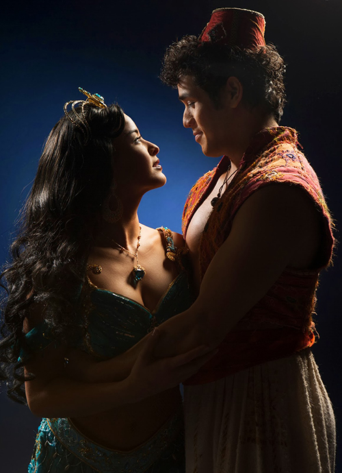Adam and Courtney as Aladdin and Jasmine by Cylla von Tiedemann