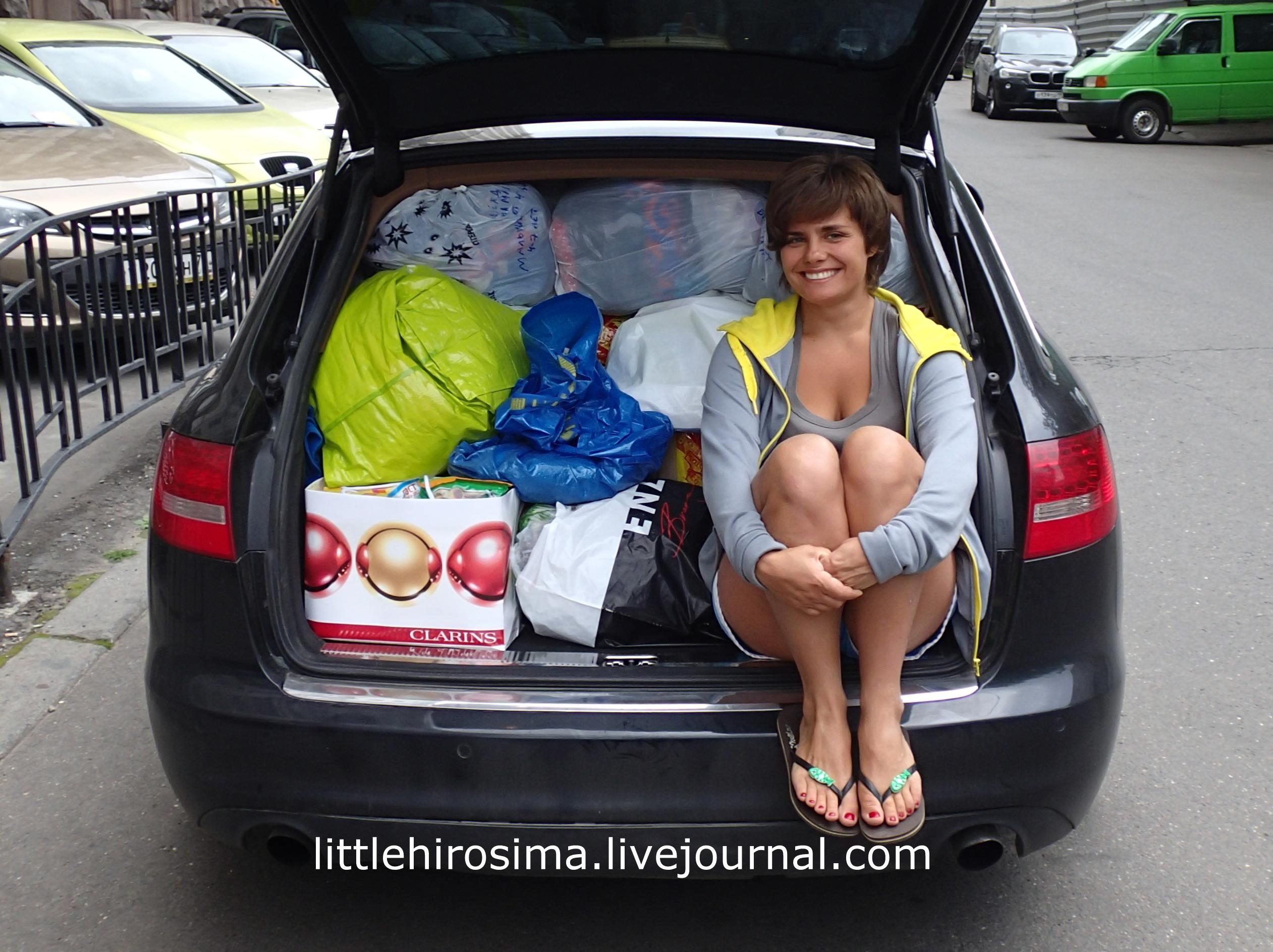 Волонтёр Дуня из Москвы помогает жителям Новороссии. Деньги присылают со всего мира.