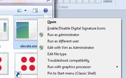 [Explorer extended context-menu]