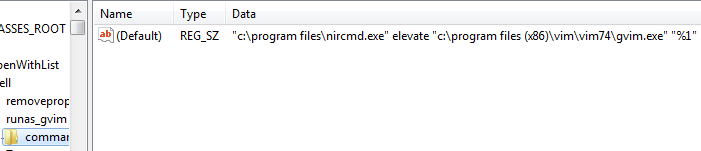 [Registry Key: HKCR\*\shell\runas_gvim\command]