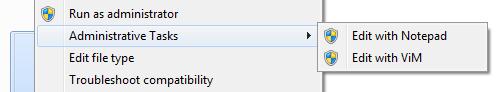 [Context-menu showing Administrative Tools submenu]