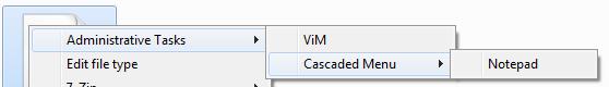 [The cascading context-menu in Explorer]