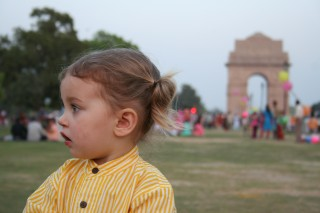 A Busy Sunday at India Gate