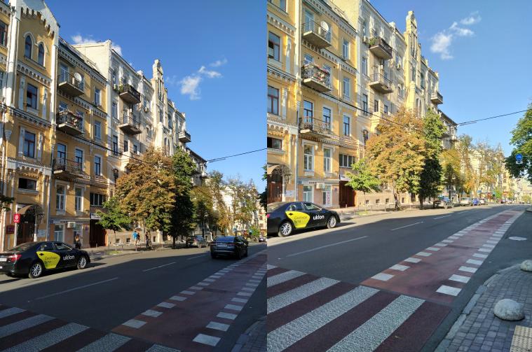 Слева - фотография без HDR, а справа - с HDR