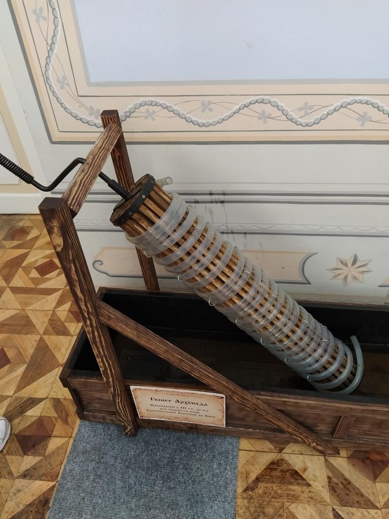 Винт Архимеда, улучшенный Да Винчи