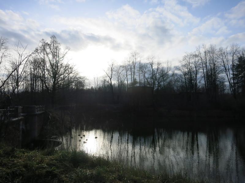 Серебряный пруд и руины дворца