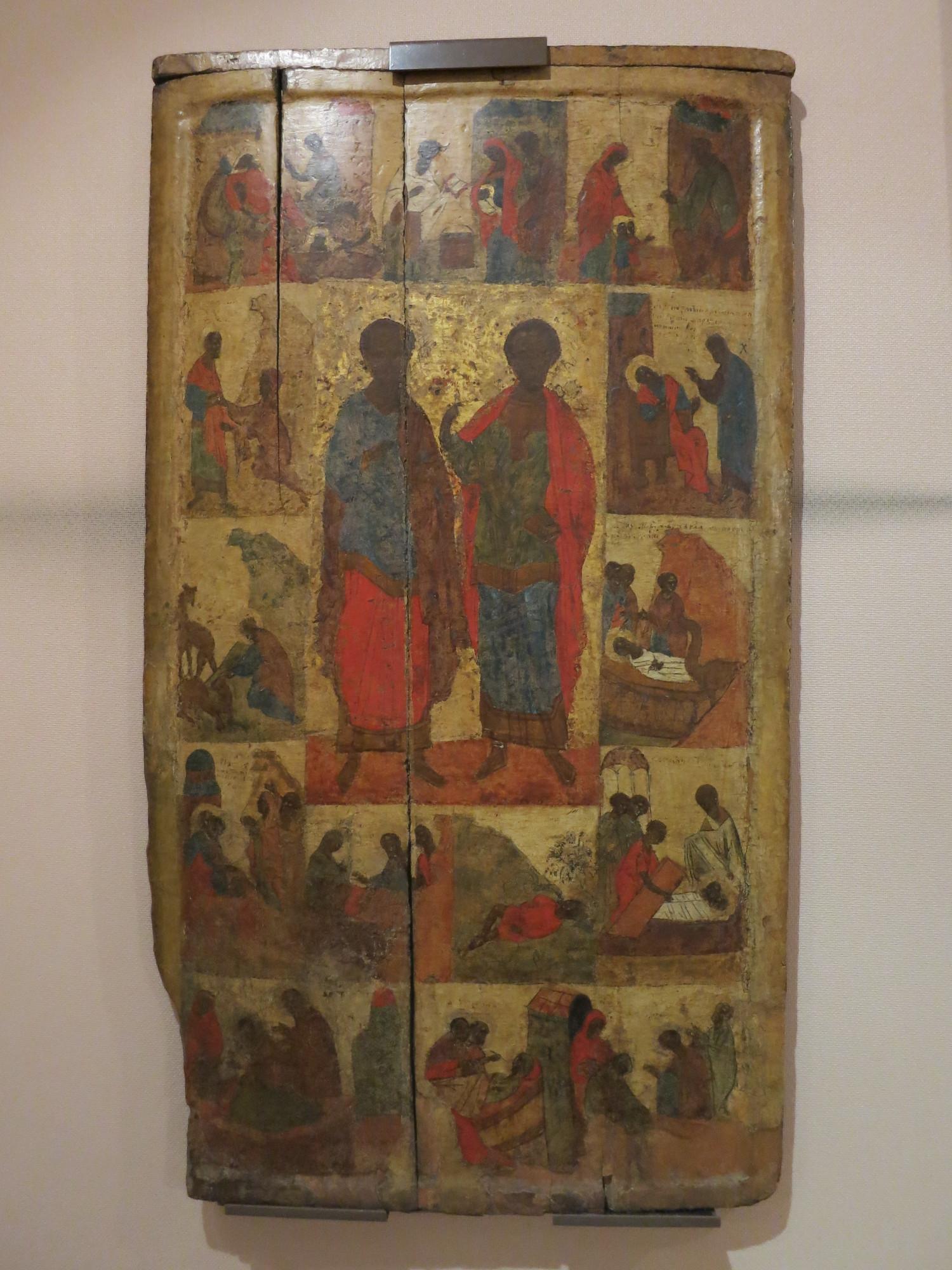 Свв Косьма и Дамиан в житии, конец 14 века
