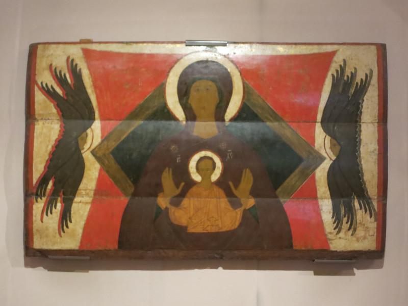 Богоматерь Знамение (Воплощение) с серафимами