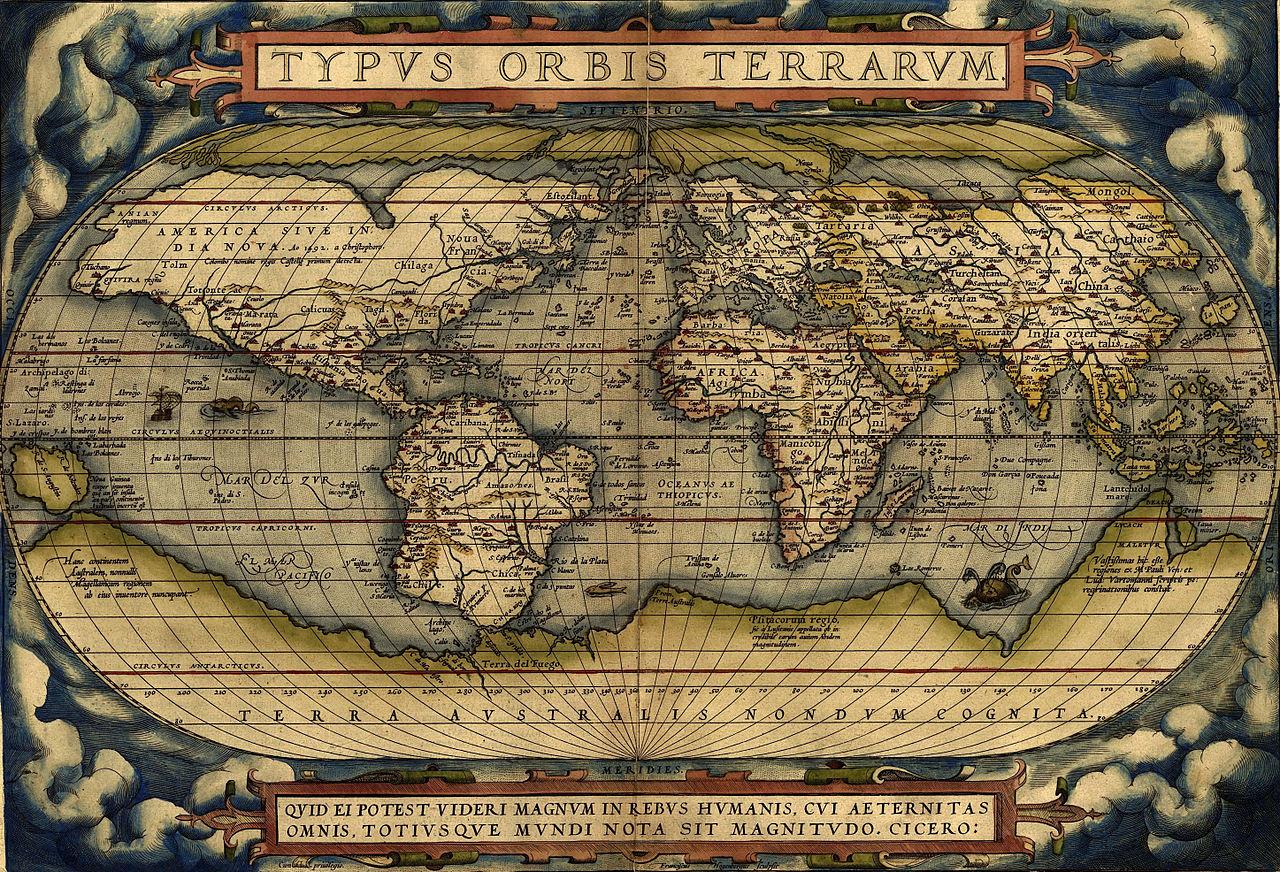 Typus Orbis Terrarum (1570 г.)