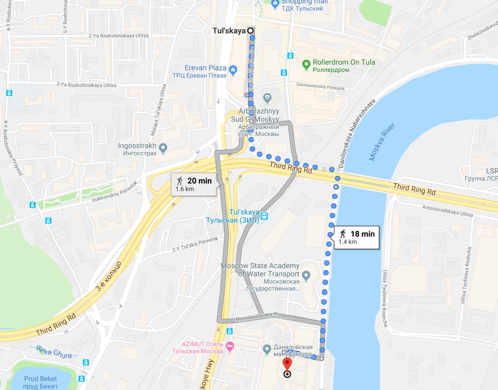 Гости наших митапов в Москве хорошо знают этот маршрут :)